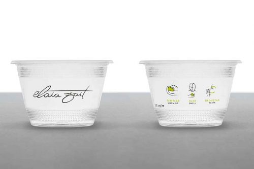 Vaso de cata biodegradable de Elaia Zait